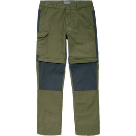 Craghoppers Kiwi Convertible Pantalones Niños, Oliva
